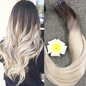 "✨ 20"" #3/#8/613 BALAYAGE HUMAN HAIR TAPE-INS  *NWT"